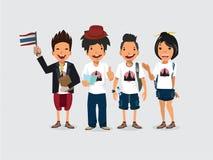 Handbok och turister Thailand - Royaltyfri Fotografi