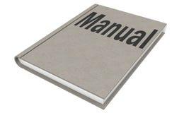 Handbok som isoleras på den vita bakgrunden royaltyfri illustrationer