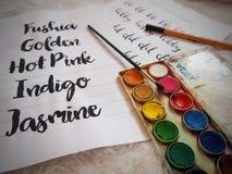 Handbokstäver fotografering för bildbyråer