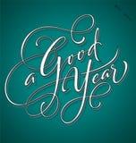 """""""Handbokstäver för ett gott år"""" vektor illustrationer"""