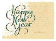 Handbokstäver för lyckligt nytt år Arkivbilder
