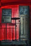 Handbrake σε παλαιό Caboose στοκ εικόνα