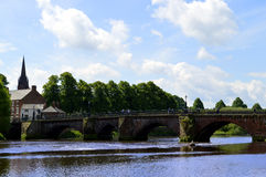 Handbridge over the river Dee in Chester Royalty Free Stock Image