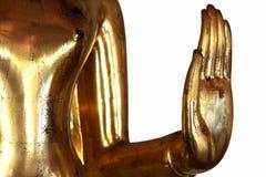 HandBuddhastaty i Wat Pho Arkivbild