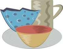 Handbuilt Pottery Royalty Free Stock Image