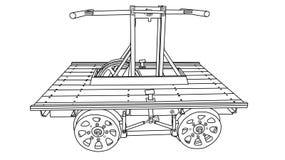 Handcar изолировало Бесплатная Иллюстрация