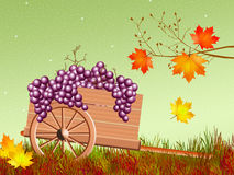 Handcart in autumn Royalty Free Stock Image