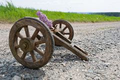 Handcart on a dirt road Stock Image