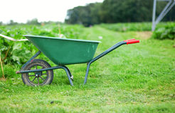 Handcart on a farm Royalty Free Stock Photography