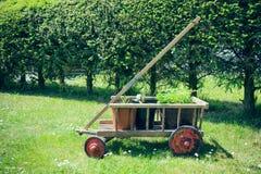 Handcart with flowerpot Stock Photography
