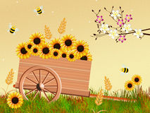 Handcart in spring Stock Image