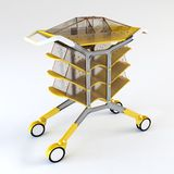 handcart utylizacji 3 d Obrazy Stock