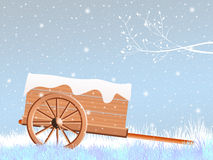 Handcart in winter Royalty Free Stock Photo