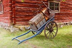 Handcart z towarami zdjęcie royalty free