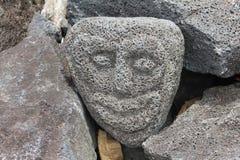 Handcrafed vänder mot av polynesian gud Fotografering för Bildbyråer