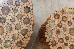 Handcraft деревянных стула и таблицы Стоковое Изображение RF