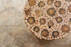 Handcraft деревянных стула и таблицы Стоковая Фотография