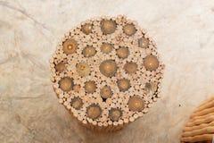 Handcraft деревянных стула и таблицы Стоковые Фото
