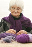 Handcraft - Active senior woman Stock Image