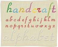 Handcraft alphabet - small letters Royalty Free Stock Photos