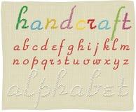 Handcraft alphabet - small letters. Vector  handcraft alphabet - small letters Royalty Free Stock Photos
