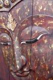 Handcraft avec le visage rouge de Bouddha photo libre de droits