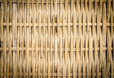 Handcraft of bamboo weave. Pattern Royalty Free Stock Image