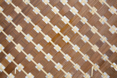 Handcraft of bamboo weave pattern. For background Royalty Free Stock Images
