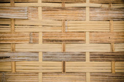 The handcraft of bamboo weave pattern fence. Background Royalty Free Stock Photos