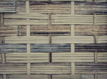 The handcraft of bamboo weave pattern fence. Background Royalty Free Stock Photo
