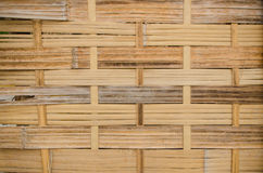 The handcraft of bamboo weave pattern fence. Background Stock Photography