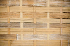 The handcraft of bamboo weave pattern fence. Background Stock Images