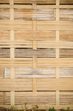 The handcraft of bamboo weave pattern fence. Background Stock Photo