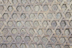 Handcraft of bamboo weave pattern Stock Photography