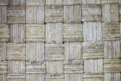 Handcraft of bamboo weave pattern Stock Image