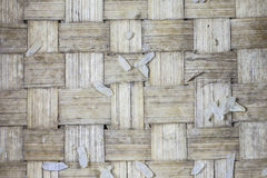 Handcraft of bamboo weave pattern. Texture and background Stock Images