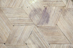 Handcraft of bamboo weave pattern Royalty Free Stock Images
