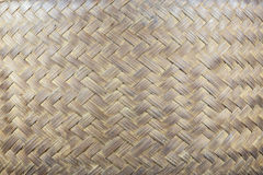 Handcraft of bamboo weave pattern Royalty Free Stock Photography