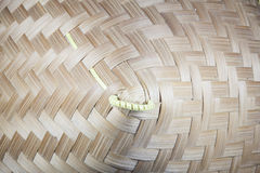 Handcraft of bamboo weave pattern. Texture and background Royalty Free Stock Photography