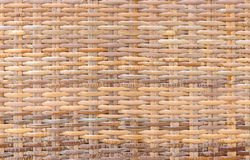 Handcraft bamboo weave texture for background.  Royalty Free Stock Photo