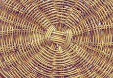 Handcraft bambusa wyplata teksturę Obrazy Royalty Free
