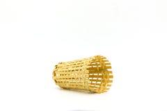 Handcraft bambusowego drewno jako Rybia klatka lubić Łapać klatkę Zdjęcia Stock