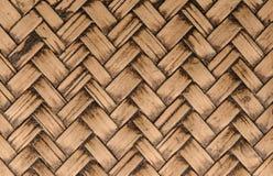 handcraft bambuvävtextur för bakgrund Arkivfoto