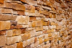 Handcraft Brick Wall Royalty Free Stock Image