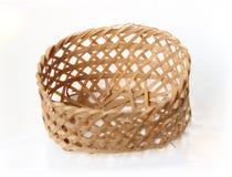 Handcraft a cesta da textura do weave Imagens de Stock