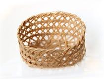 Handcraft a cesta da textura do weave Fotos de Stock Royalty Free