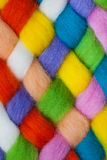 Handcraft felting material Royalty Free Stock Photo
