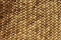 Handcraft a fibra vegetal natural da textura do weave Imagens de Stock