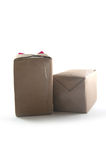 Handcraft gift boxes Royalty Free Stock Images