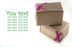 Handcraft gift boxes Royalty Free Stock Photos